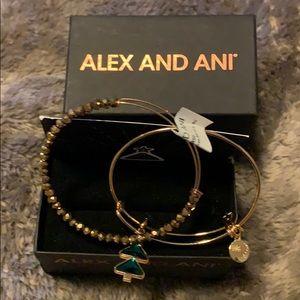 Alex and Ani Oh, Christmas tree bracelet
